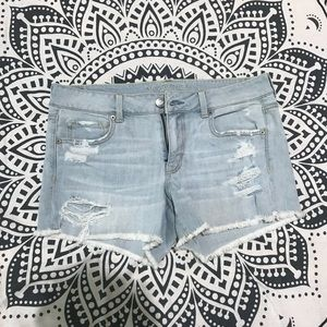 American Eagle Ripped Jeans Shorts
